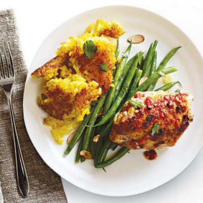 Fiery Chicken Thighs with Persian Rice