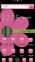 Screenshot of ADW Theme | PinkNGreenDreams