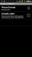 Screenshot of Contact to Clipboard Free