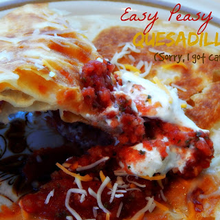 Easy Peasy Cheesy Quesadilla-Y! (Sorry I got carried away!)