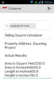 Siding Square Calculator - screenshot