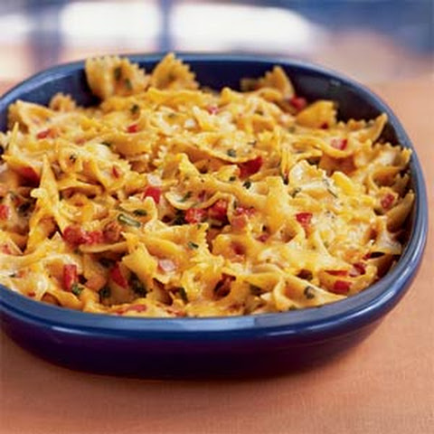 Chili and Cheddar Bow Tie Casserole