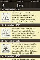 Screenshot of SprekMat.no