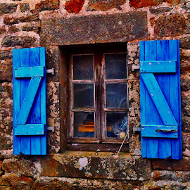 Window by Dobrin Anca - Buildings & Architecture Architectural Detail ( wood, window, windy, brittany, walk )