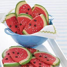 Watermelon Slice Cookies