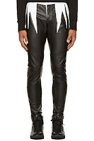 Pyer Moss Black And White Leather Master Slice Pants