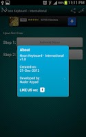 Screenshot of Noon Keyboard (International)