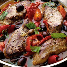 Garlicky Lamb With Peppers & Couscous
