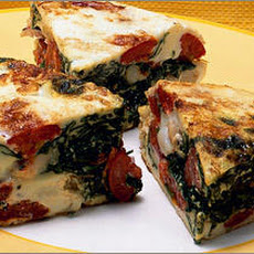 Egg-White Frittata with Shrimp, Tomato, and Spinach Recipe