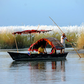 through the beauty of nature by Santanu Dutta - Transportation Boats (  )