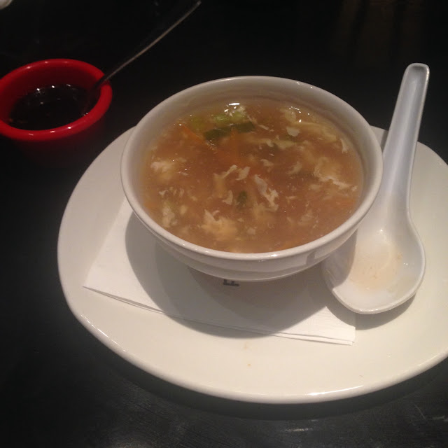 Egg Drop soup is gluten free and they gave me a cup of gluten free soy sauce.