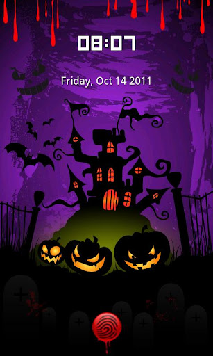 Halloween castle Locker theme