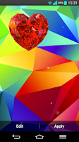 Screenshot of Galaxy S5 Heart Live Wallpaper