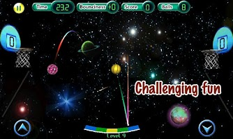 Screenshot of Cosmic Basketball FREE