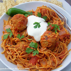 Mexican Style Spaghetti and Meatballs