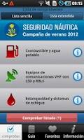 Screenshot of SM. Seguridad Náutica