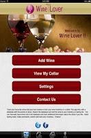 Screenshot of Wine Lover
