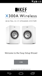KEF Wireless Setup - screenshot