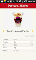 Screenshot of McD App