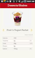 Screenshot of McD App