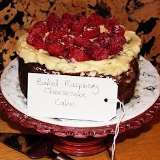 Raspberry Ripple Cheesecake Cake