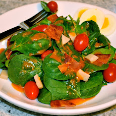 Spinach Salad with Bacon & Tangy Vinaigrette