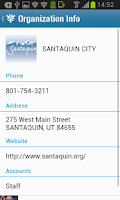 Screenshot of Santaquin City