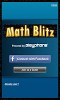 Screenshot of Math Blitz Plus