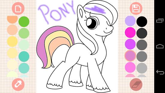 Игры раскраски пони онлайн бесплатно для девочек