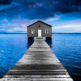 Boatshed by Siddharth Banerjee - Buildings & Architecture Other Exteriors ( selective color, sunset, boatshed, vignette, jetty,  )