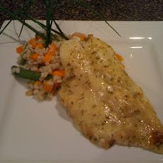 Orange Roughy with Sherry and Herb Sauce