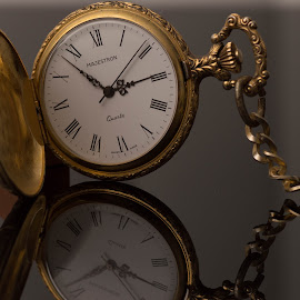 Reflections of a timepiece by TJ Campbell - Novices Only Macro ( pocketwatch, macro, timepiece,  )