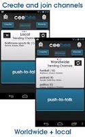 Screenshot of CeeBee - Walkie Talkie FREE