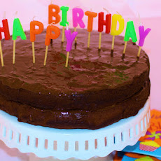 Happy Healthy Chocolate Birthday Cake with Chocolate Vegan Frosting