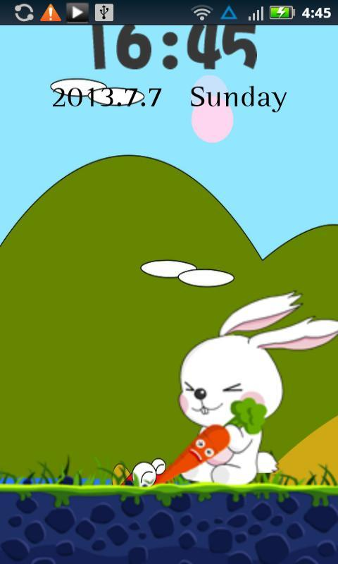 In this app bunny is trying to pull up the carrot help this cute