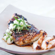 Sea Bass with Soy Glaze Recipe