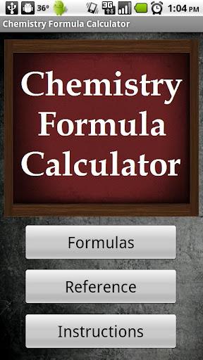 Chemistry Formula Calculator
