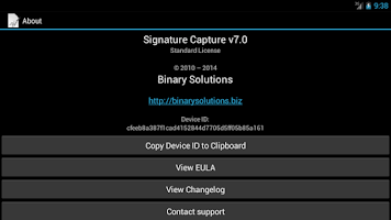 Screenshot of Signature Capture