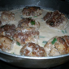 Lions' Heads With Spicy Coconut Sauce