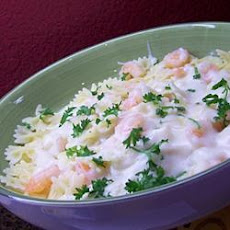Scim's Fettucine Alfredo with Shrimp