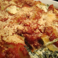 Kittencal's Spinach & Four-Cheese Manicotti (Vegetarian)
