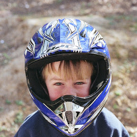 by Beth Chattin - People Family ( child, motorcycle, smiles )