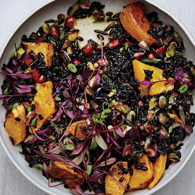 Black and Wild Rice Salad with Roasted Squash