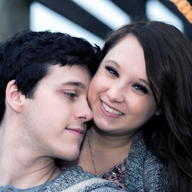 Young Love  by Sabrina Causey - People Couples ( love, couple, young, portrait,  )