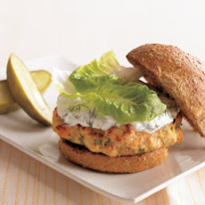Salmon Burgers with Yogurt-Dill Sauce
