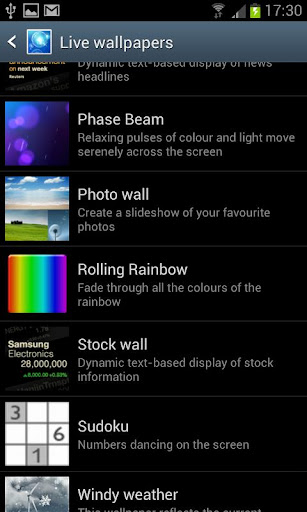 Rolling Rainbow Live Wallpaper