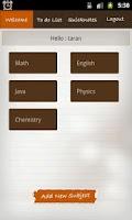 Screenshot of Class Notes