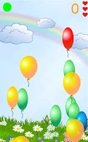 Screenshot of Kids game Balloons Rainbow