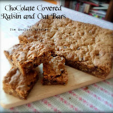 Oat and Chocolate Raisin Blondies