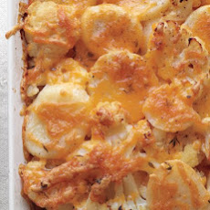 Potato, Cauliflower, and Cheddar Bake